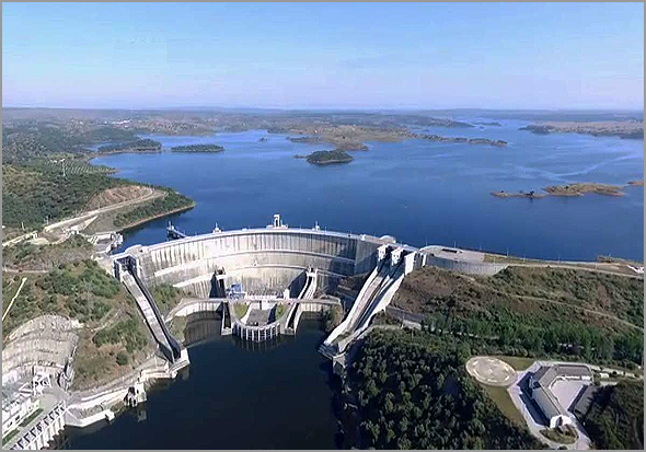 Barragem do Alqueva no Alentejo