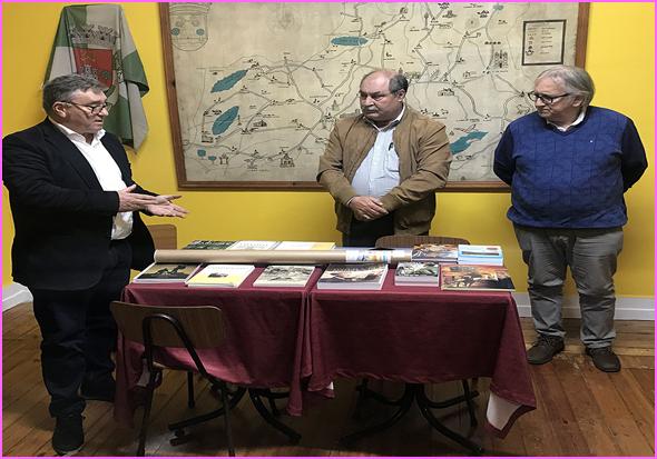 António Robalo, Joaquim Corista e Ramiro Matos na Casa do Concelho do Sabugal