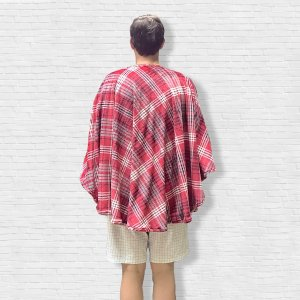 Mens Hospital Gift Warm Fleece Poncho Cape