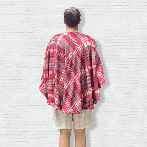 Mens Hospital Gift Warm Fleece Poncho Cape