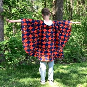 Warm Fleece Poncho for boys