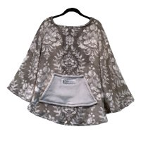 Hospital Gift Women's Warm Fleece Poncho Cape
