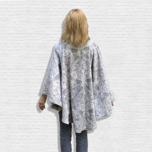 Warm Fleece Poncho Cape