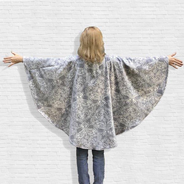 Women's Fleece Poncho Cape