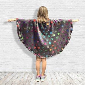 Warm fleece poncho cape