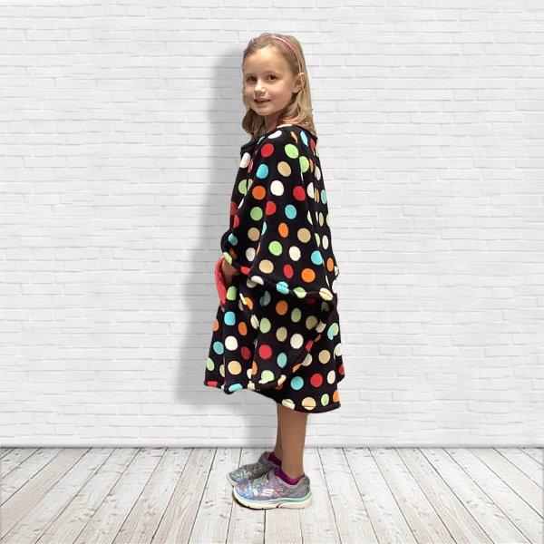 child Polka dot fleece poncho
