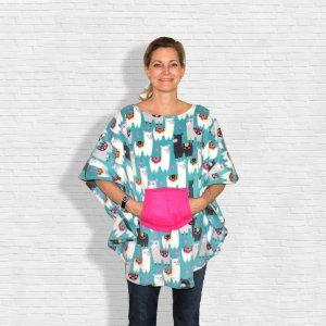 Hospital Gift Child Women's Fleece Poncho Cape Lamas
