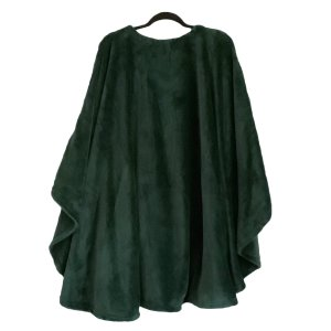 Adult Hospital Gift Fleece Poncho Cape Ivy Emerald Green
