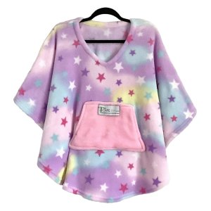Child Hospital Gift Fleece Poncho Cape Ivy Pastels