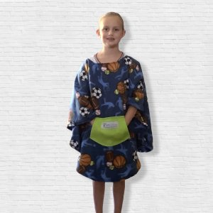 Child Hospital Gift Fleece Poncho Cape Ivy All Sports