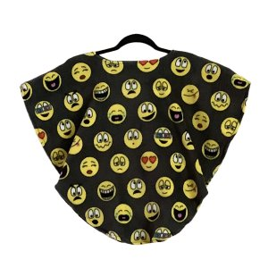 Toddler Hospital Gift Fleece Poncho Cape Ivy Emojis