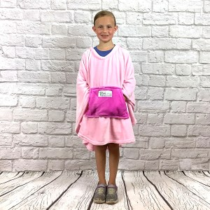 Girl Hospital Fleece Poncho Cape Ivy Pink