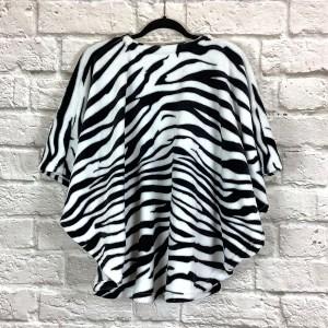 Child Hospital Gift Fleece Poncho Cape Ivy Black White Zebra