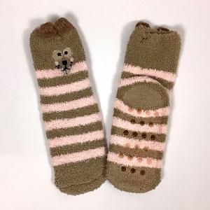 Non-slip gripper socks Cape Ivy squirrels