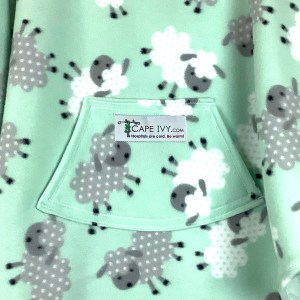 Cape Ivy Fleece Leaping Lambs Mint