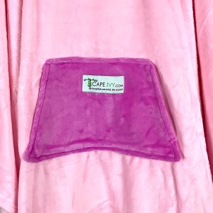Pink Fleece Poncho