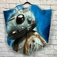 Adult Teen Hospital Gift Fleece Poncho Cape Ivy BB-8 Star Wars™