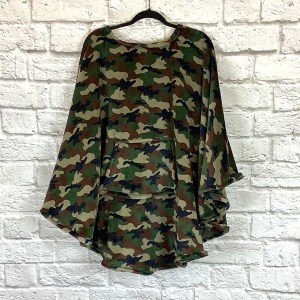 Adult Teen Hospital Gift Fleece Poncho Cape Ivy Camouflage
