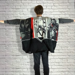 Teen Adult Hospital Gift Fleece Poncho Cape Ivy Star Wars™ The Force Awakens back wide