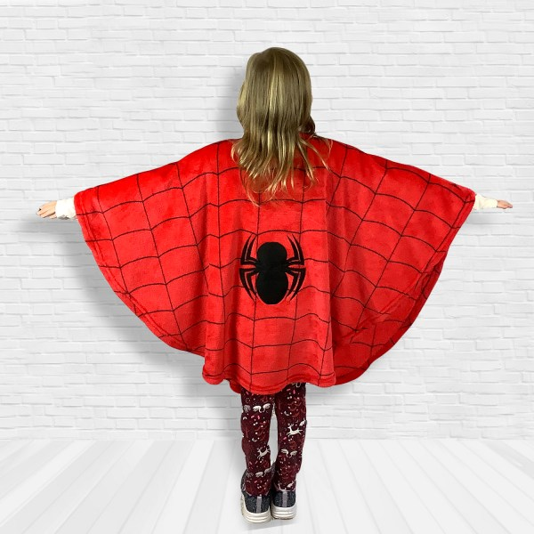 Child Hospital Gift Fleece Poncho Cape Ivy Spider