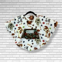 Toddler Hospital Gift Fleece Poncho Cape Ivy Dog Days
