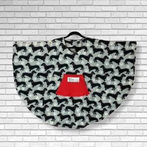 Child Hospital Gift Fleece Poncho Cape Ivy Dachshund Dogs