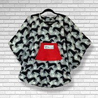 Child Hospital Gift Fleece Poncho Cape Ivy Dachshund Dogs
