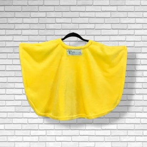 Toddler Hospital Gift Fleece Poncho Cape Ivy Yellow Smiley Face