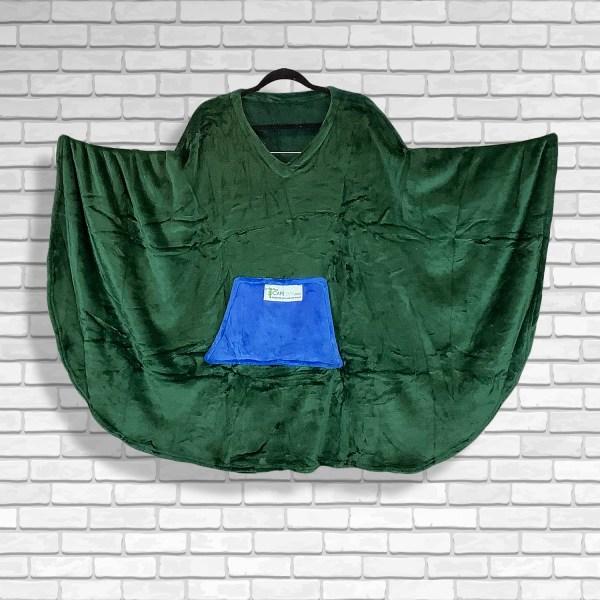 Teen Adult Hospital Gift Fleece Poncho Cape Ivy Emerald Green Royal Blue pocket