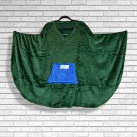 Teen Adult Hospital Gift Fleece Poncho Cape Ivy Emerald Green Royal Blue pocket