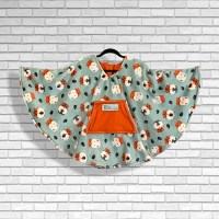 Child Hospital Gift Fleece Poncho Cape Ivy Happy Hamsters