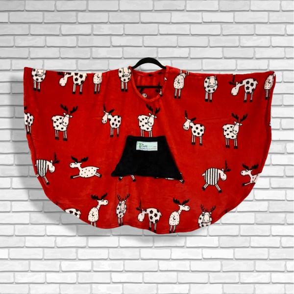 Child Hospital Gift Fleece Poncho Cape Ivy Merry Moose