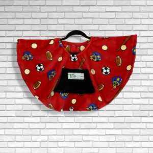 Toddler Hospital Gift Fleece Poncho Cape Ivy Play Ball