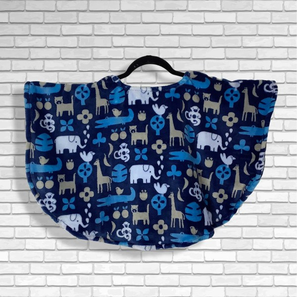 Toddler Hospital Gift Fleece Poncho Cape Ivy Zoo Animals