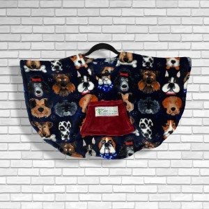 Toddler Hospital Gift Fleece Poncho Cape Ivy Who Let The Dogs Out