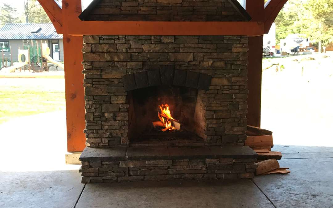 Covered Fire Place and Pavilion