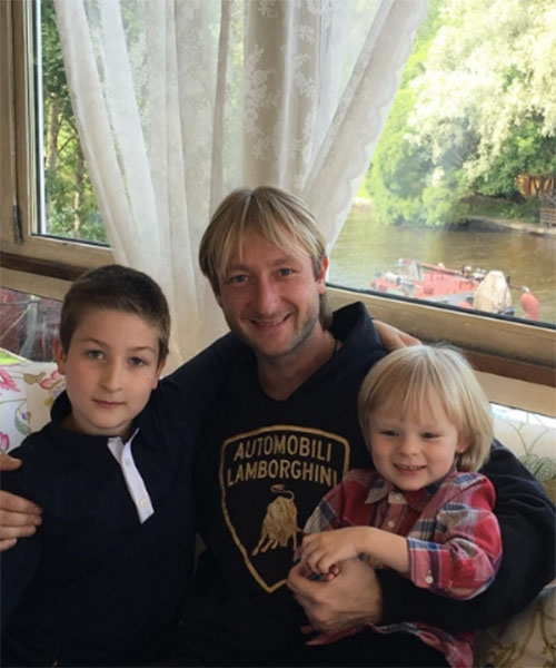 Evgeni Plushenko With His Sons Celebrated A Year Since Mom