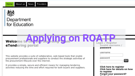 Applying on ROATP