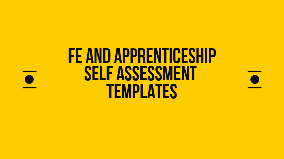 fe and apprenticeship self assessment templates