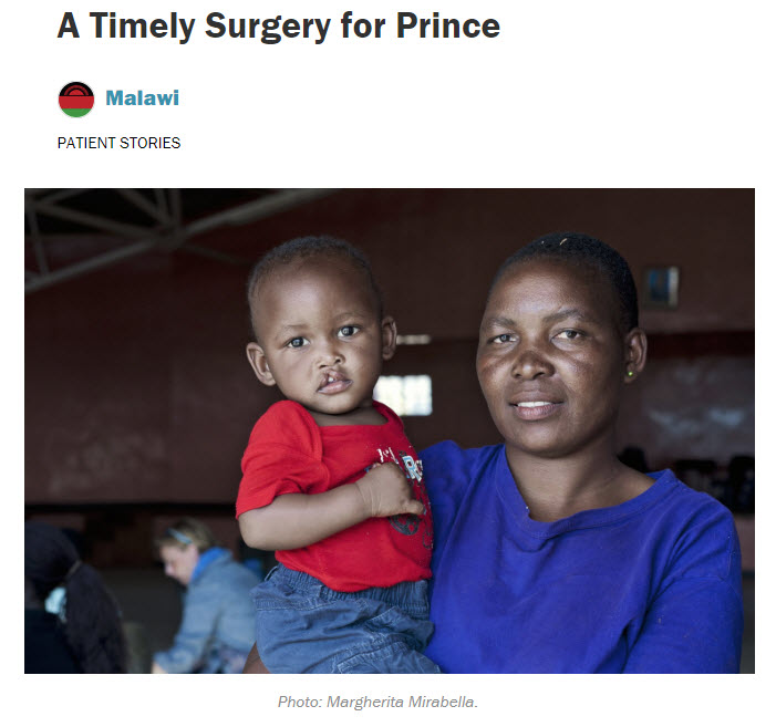 Image of A Timely Surgery for Prince blog post on Operation Smile's website.