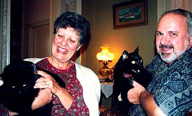 Connie & Frank Felicetti with Heckyl & Jeckyl