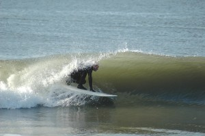 Mike Owen riding a tube. Photo by Susie Owen.