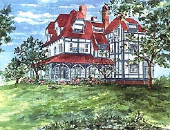 Patricia Rainey painting of the Physick Estate