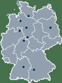 Standorte CAPERA Gruppe kleine Karte
