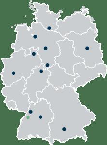 Standortkarte mit Grünem Punkt