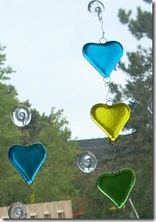 Fused Glass Wind Chimes and Hearts (2/3)