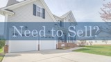 "A picture of a house with ""Need to Sell?"""