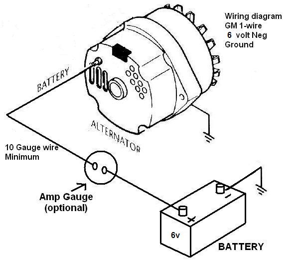 gm single wire alternator diagram  center wiring diagram