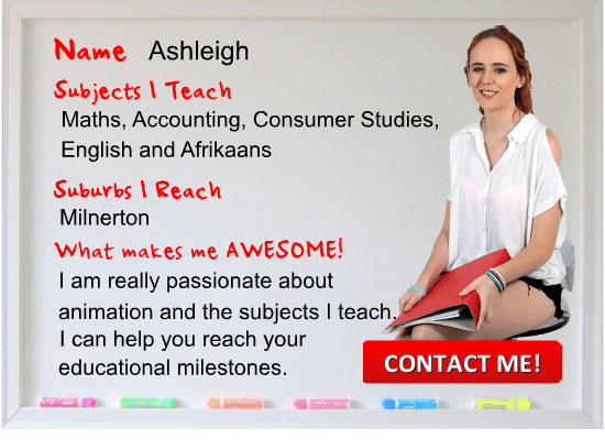 Ashleigh Tutor Cape Town teaching English