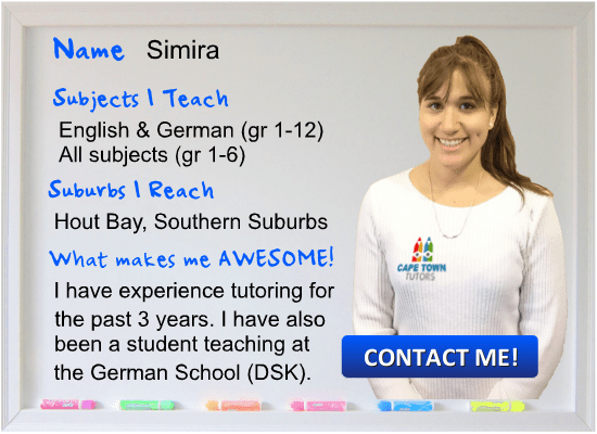 Simira German Tutor Cape Town teaching German and English